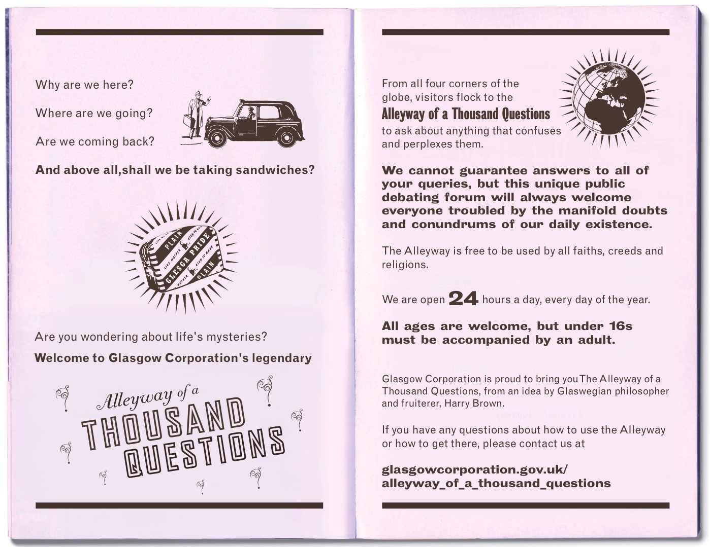 Alleyway of a Thousand Questions leaflet